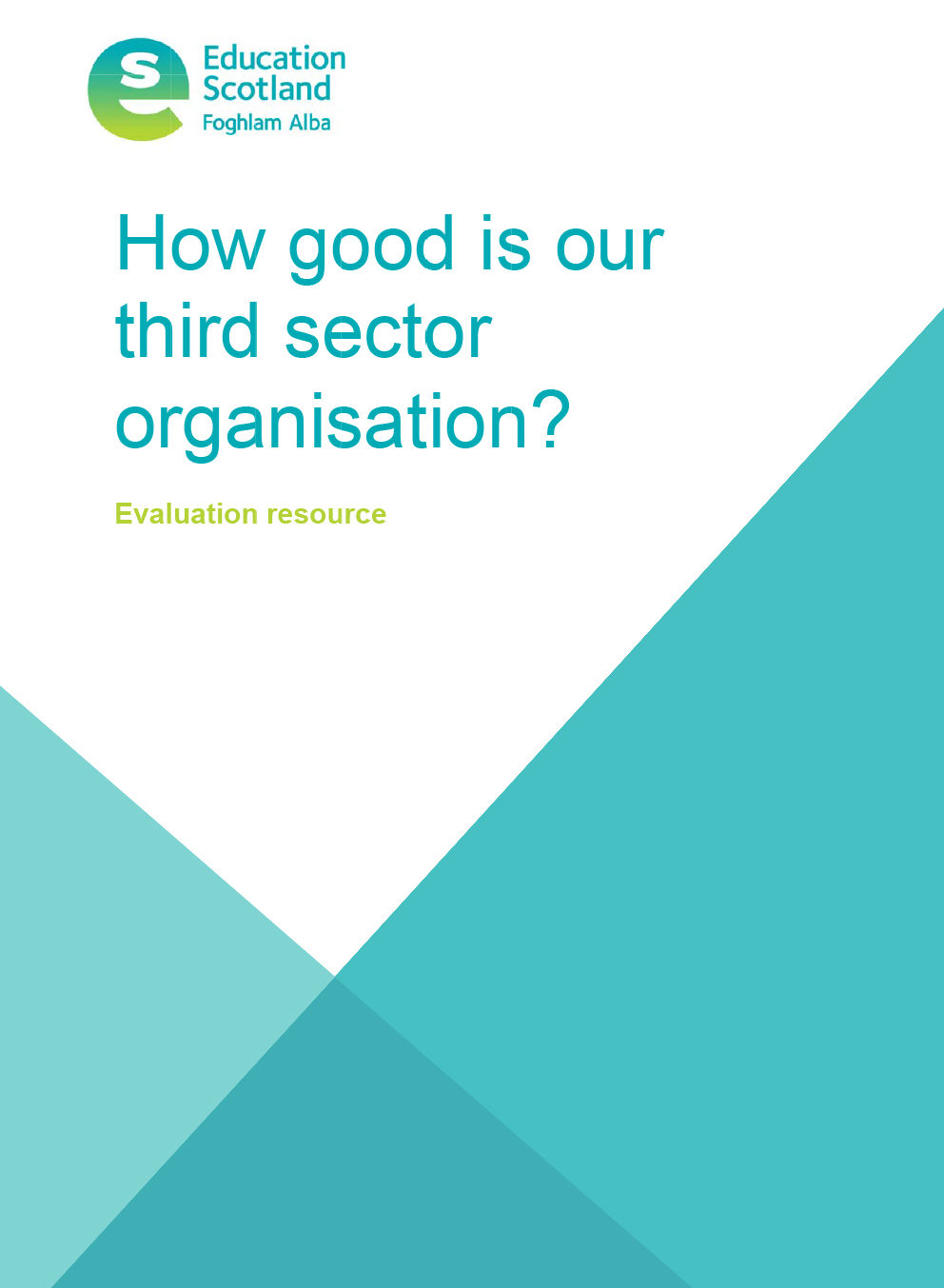 Free self-evaluation resource for third sector organisations