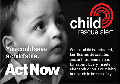 Sign-up to join the Child Rescue Alert Team
